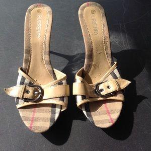 Womans burberry shoes.
