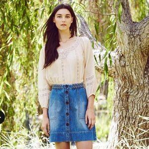 Joie Denim Mini Skirt