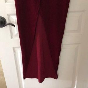 Dresses - Red velvet long dress