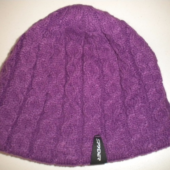 Spyder Women One Size Purple Cable Knit Hat Beanie.  M 59b825ef2ba50af9de0004d9 2c1f5012f387