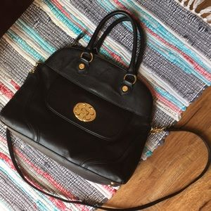 Emma Fox Black Satchel Purse