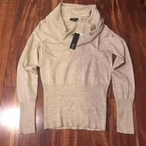 Gold Cowl Neck Sweater Size Small