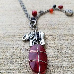 Jewelry - Long elephant necklace