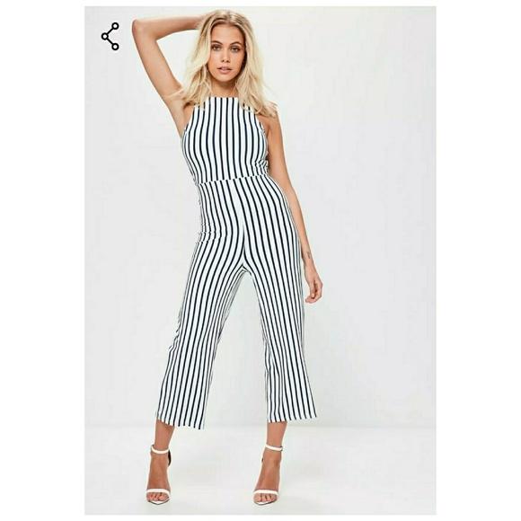 3e67c9ce37a Missguided White Jersey Stripe Jumpsuit