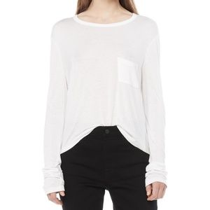 Alexander Wang white long sleeve tee