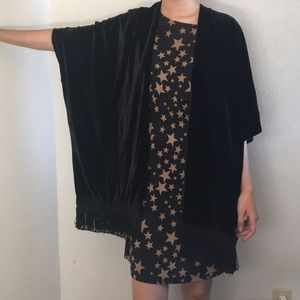 Tops - Stardust bohemian velvet kimono + fringe hem