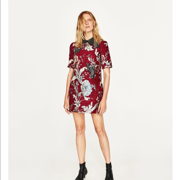 Zara Dresses Embroidered Dress Poshmark