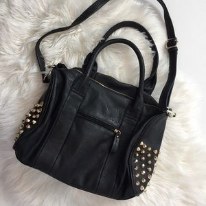Handbags - Faux Leather Studded Purse