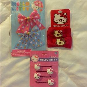 UNUSED Hello Kitty Hair Accessories (LOT)