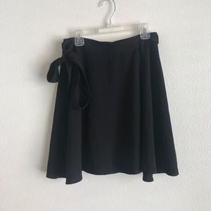 American Apparel Black Side Tie Skirt