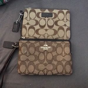Two new without tag coach wristlets FLASH SALE