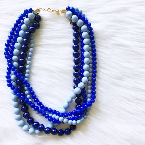 blue tone statement necklace