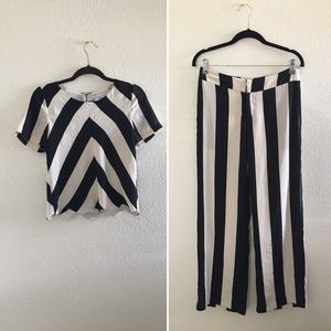 Tops - Stripe top and pants set