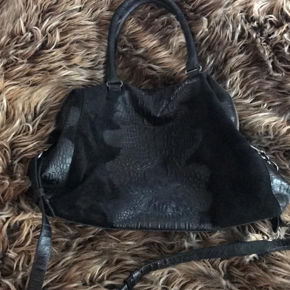 Raven Kauffman Handbags - Raven kavffman couture sued and crocodile handbag