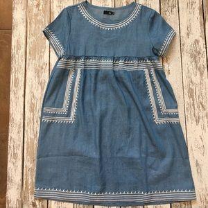 Mindy MAEs Market Chambray tunic / dress small