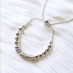Jewelry - LAST ITEM silver beaded bracelet