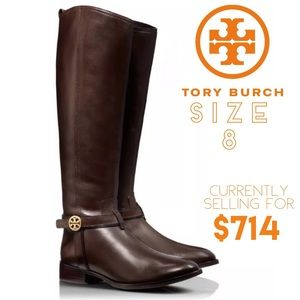 Tory Burch Leather Riding Boots Bristol Size 8