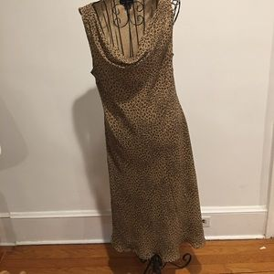 "ANN TAYLOR 14 LONG LEOPARD 45"" DRESS"