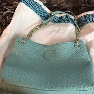 Tory burch quilted Fleming tote!