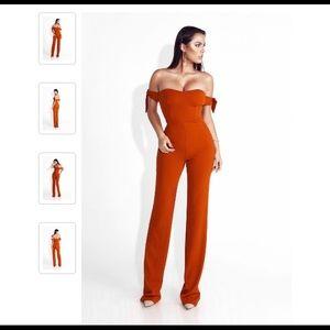 Other - Rust Orange Jumpsuit! Worn ONCE JLuxLabel