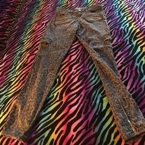Guess leopard jeans size 29 & 30