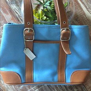 Coach Purse blue tote bag cute