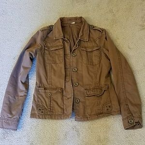 Brown utility jacket