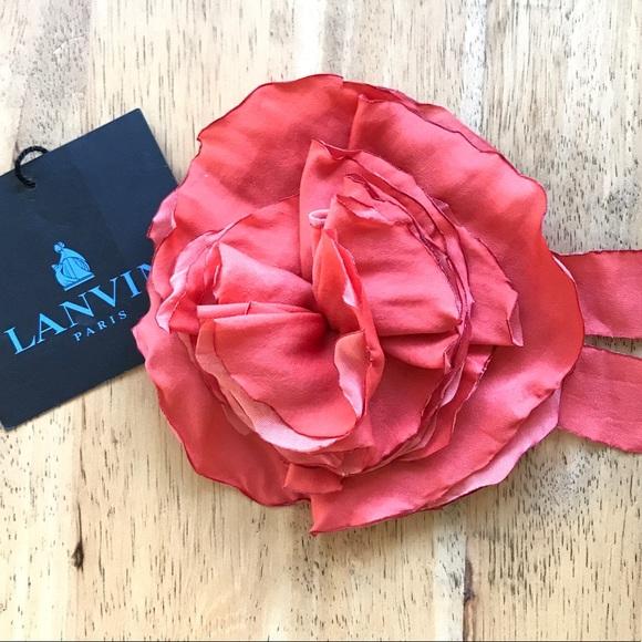 Lanvin jewelry silk rose flower brooch pin poshmark lanvin silk rose flower brooch pin mightylinksfo