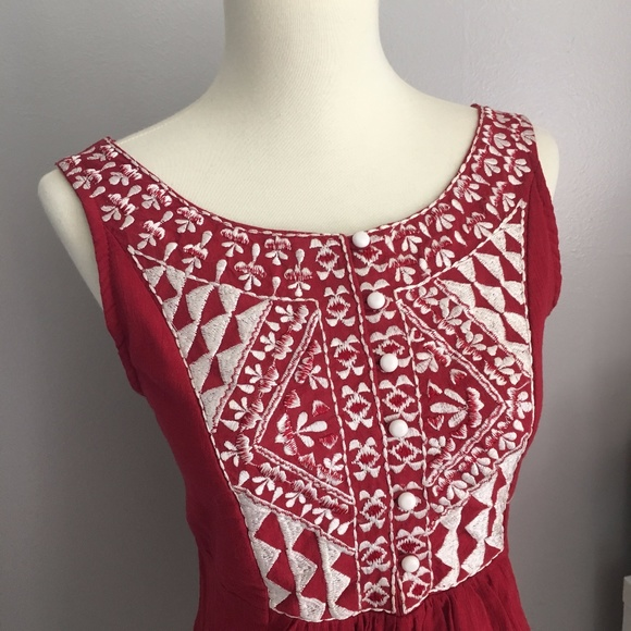 Anthropologie Tops - Embroidered Tank