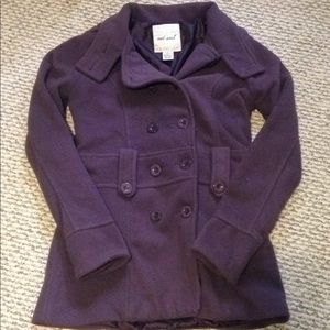 Soft purple pea coat