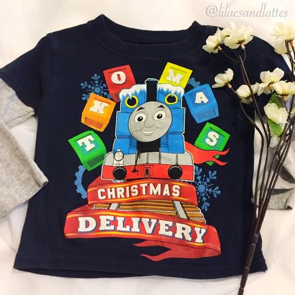 Thomas The Train Christmas.Boys Thomas The Train Christmas Tee Long Sleeve