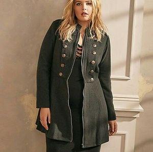 Torrid Gray Military Coat 4x 3x