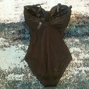 bf80461f90 Splendour Intimates   Sleepwear - Splendour black mesh multiway body shaper  bodysuit