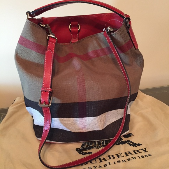 7147e79ce77 Burberry Handbags - Burberry Medium Ashby in Canvas check and Leather.