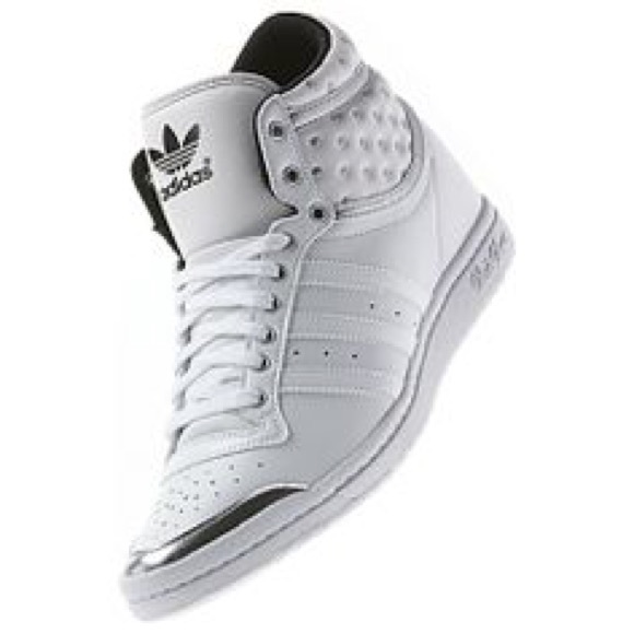 999206c3d7c5 adidas Shoes - CCO Adidas high sleek up shoes white   Silver 8
