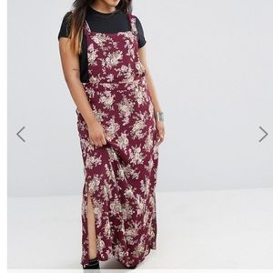NWT ASOS CURVE floral overall Maxi Dress
