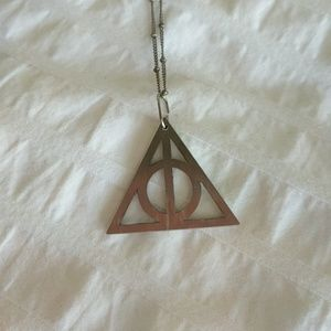 """Jewelry - 16"""" silver Harry Potter Deathly Hallows Necklace"""