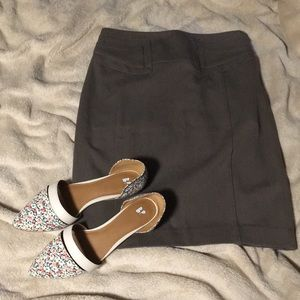 Stretchy Express brown pencil skirt 2