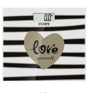 Accessories - NEW Coby glass digital scale Love Yourself