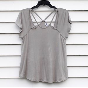 Stitch Fix American Able Alissa Cut Out Detail Top