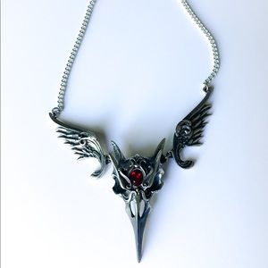 Masque of the Black Rose Articulated Raven Pendant