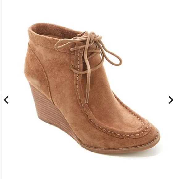 6cc97d38ee0f Lucky Brand Shoes - Lucky Brand Ysabel Lace-Up Wedge Booties