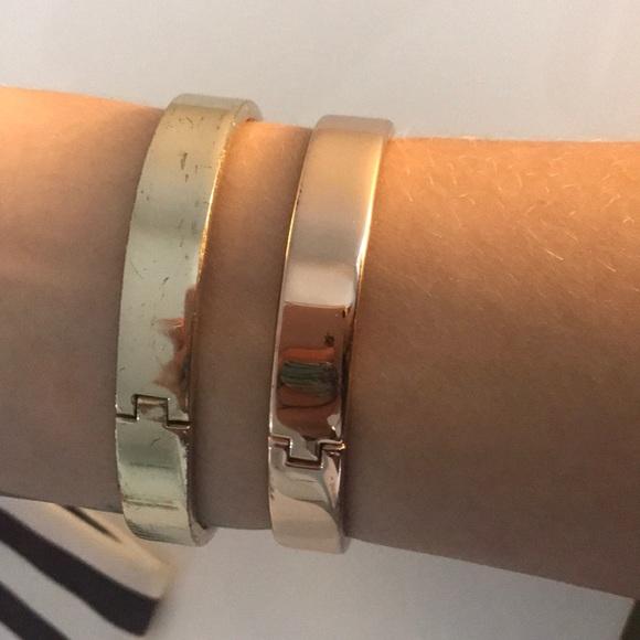 henri bendel Jewelry - Henri Bendel Rose Gold and Gold Bangle