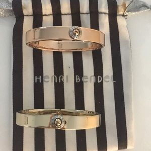 Henri Bendel Rose Gold and Gold Bangle