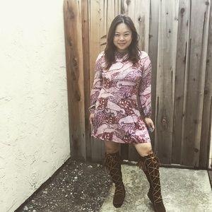 Jaase mini swing Tunic dress long sleeve Boho