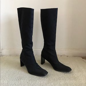 Gucci Shoes - GUCCI Black Knee High Boots