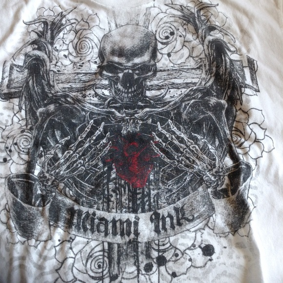 ALSTYLE Other - ALSTYLE WHITE MIAMI INK T SHIRT XL NWOT
