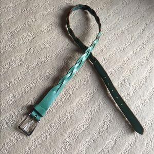 Turquoise braided Gap belt
