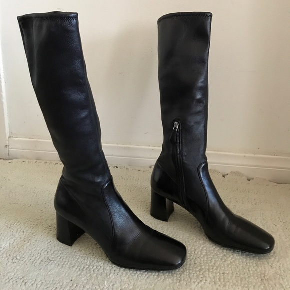 Prada Shoes - FREE SHIP - NWOT PRADA Black Knee High Boots