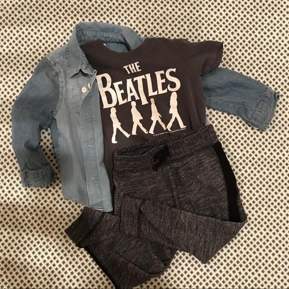 5735313e H&M Shirts & Tops   Infant Beatles Tee Hm Kids   Poshmark